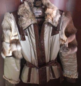 Куртка осень-зима с натуральным мехом