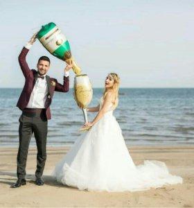 Надувное шампанское для фотосессии