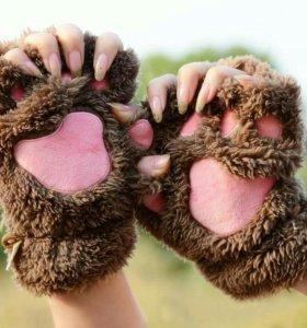 Перчатки, митенки, кошачьи лапки
