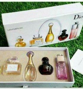 Набор ароматов Dior 5 в 1 + подарок тушь Kylie