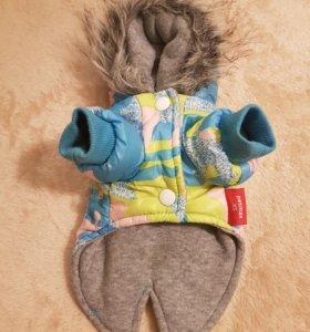 Куртка - пуховик на собачку, размер XS