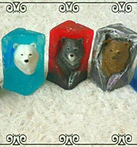 """Фигурное мыло """"медведь в скале"""""""