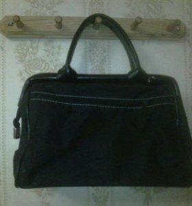 Тканевая сумочка черного цвета