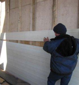 Отделка фасадов сайдинг, имитация бруса,блок хаус