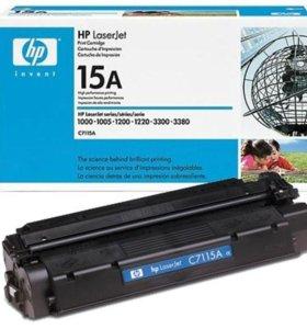 Оригинальный б/у картридж HP C7115A(15A)