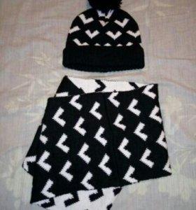 Новые шапка+снуд