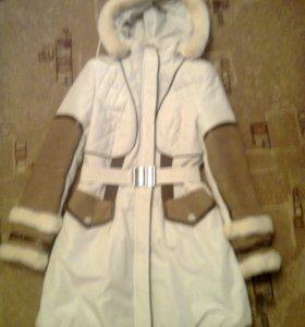 Зимняя удлиненная куртка
