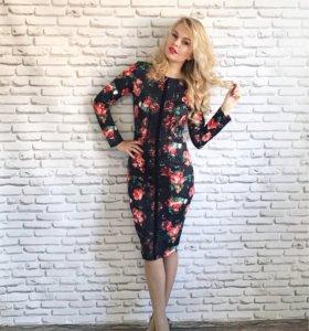 Новое платье с цветами
