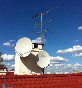 Установка спутниковых,эфирных антенн