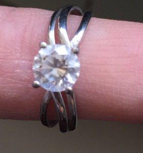 Кольцо серебряное новое