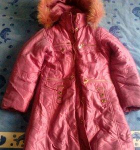 Зимнее пальто (пуховик) для девочки