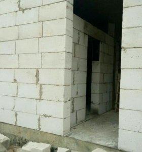 Делаю фасад кладу  газопенаблок!!!