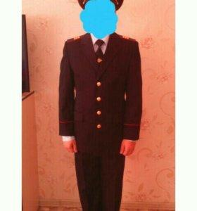 Китель, брюки, фуражка, галстук, рубашка