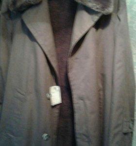 Пальто с меховой подстежкой мужское э