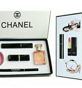 Набор Chanel (шанель) 5 в 1 + подарок тушь Kylie