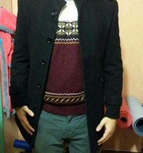 Классичское мужское пальто с шерстяным подкладом
