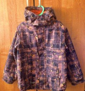 Продам куртку р 128 весна осень