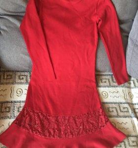 Платье тёплое машинная вязка
