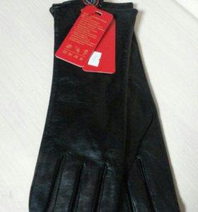 Перчатки кожа удлинённые