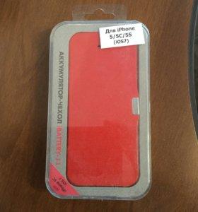 Чехол аккумулятор на iPhone 5/5C/5S.