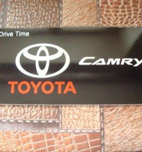 """Табличка вместо Японского номера """"CAMRY""""."""