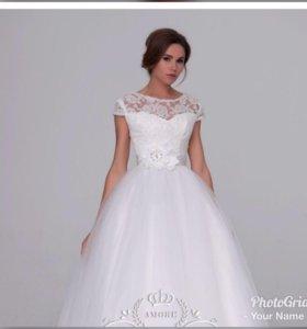 Свадебное платье +туфли
