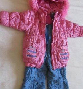 Зимний комплект - куртка и полукомбинезон до 98 см