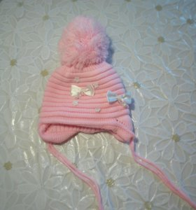 Зимняя шапка на 6-12 месяцев