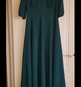 Изумрудное платье в пол 👗