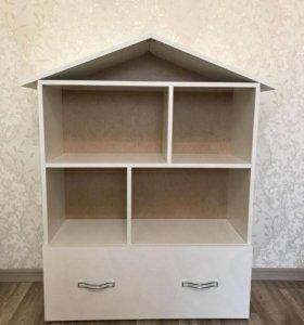 Кукольный домик-стеллаж