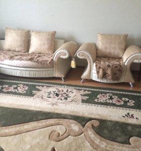 Мягкая мебель, угловой с креслом