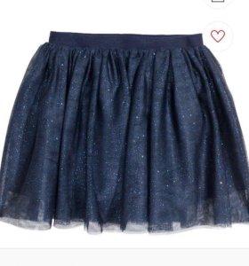 Нарядная юбка H&m с биркой 110-116, 122-128