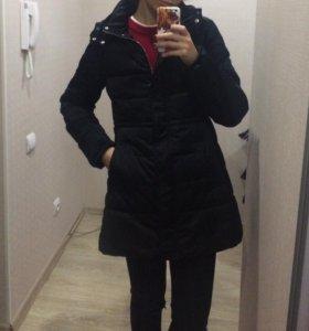 Куртка демисезонная с капюшоном черная , размер m
