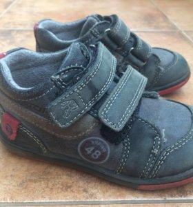 Ботинки осенние кожаные детские Kapika