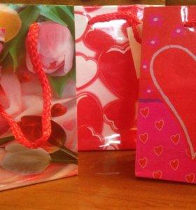 Пакет подарочный 11х14