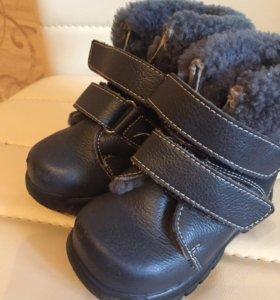 Ботинки зимние, нат мех, нат. Кожа