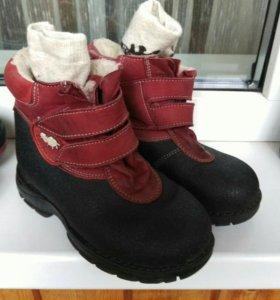 Ботинки стелька 18,5-19см+носки термо