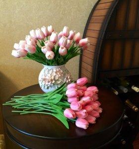 Интерьерные цветы (15 тюльпанов)