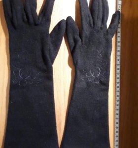 Перчатки высокие, без подклада