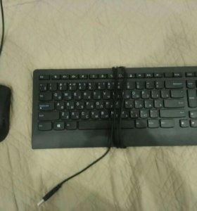 Клавиатура и мышка Lenovo