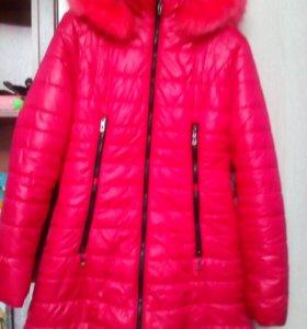 пальто с капюшоном на синтепоне зима 46-48