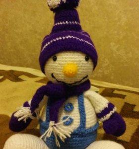 """Вязанная игрушка """"Снеговик"""""""