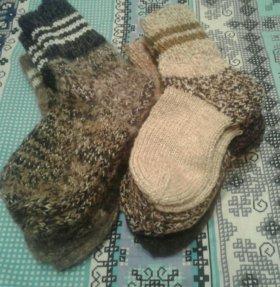 Вязаные носки из шерсти собаки и овцы