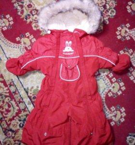 Детский зимний комбинезон- трансформер