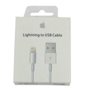 кабель Apple и наушники