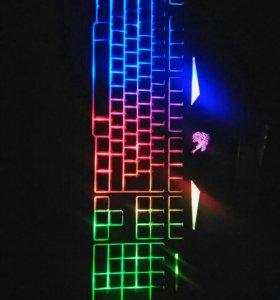 Клавиатура с подсветкой Qumo Dragon War