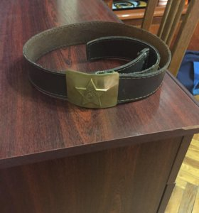 Ремень армейский кожаный
