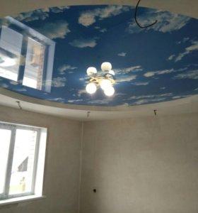 Натяжные потолки,стены,напольные покрытия.