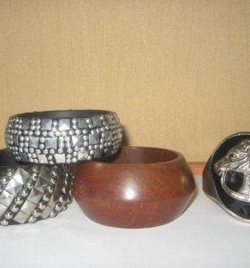 Широкие браслеты новые очень красивые, стильные