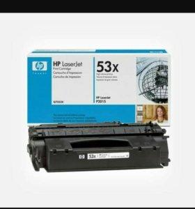 Новый картридж HP Q7553X оригинальный